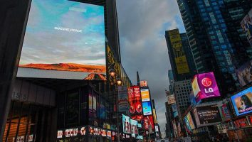 Art Production Fund - Projects - YOKO ONO: Imagine Peace Times Square